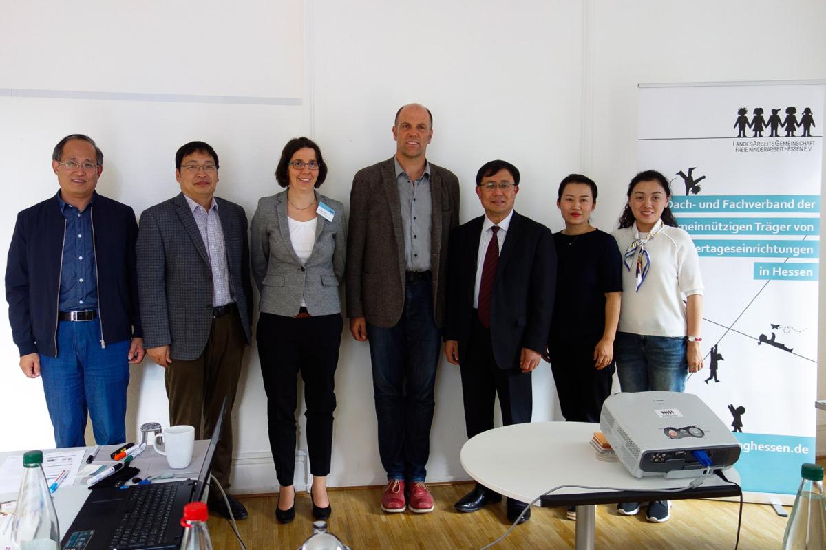 Chinesische Delegation Bildungsplan